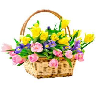 Цветы в корзинке «Вдохновение»